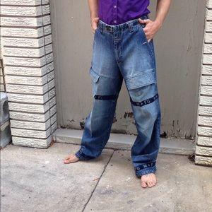 Vintage M+FG Wide Leg Stone washed Jeans 32x32
